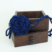 Image of Rose Headband in Deep Indigo
