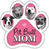 Image of &quot;Pit Bull Mom&quot; Car Magnet
