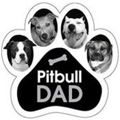 Image of &quot;Pit Bull Dad&quot; Car Magnet