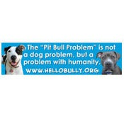 Image of &quot;The Pit Bull Problem...&quot; Car Magnet