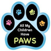 Image of &quot;All My Children Have Paws&quot; Car Magnet