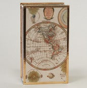 Image of Old World Map with the Solar System