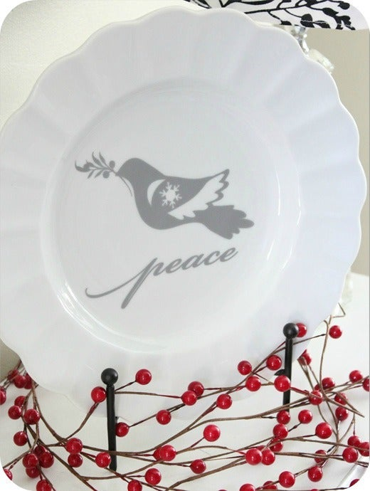 Image of Dove w/ Peace lettering