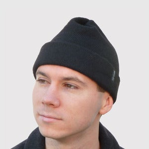 Image of Brainy Guy Beanie in Black Cashmere Knit