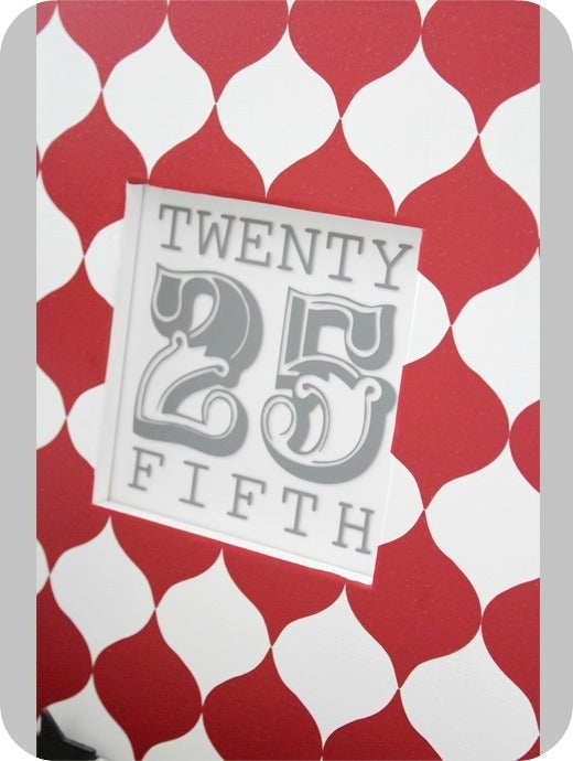 Image of 25/twenty fifth decal