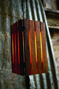 Image of Reclaimed Barn Wood Hanging Lamp [#13001]