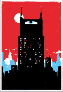 Image of Batman Building Art Print