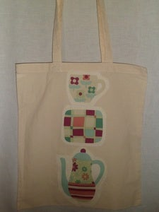 Image of Applique Shopper Tote Bag