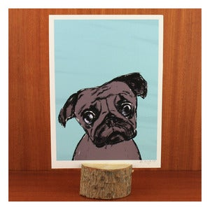 Image of STANLEY THE PUG PRINT by Evie Kemp