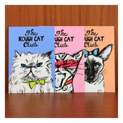 Image of ROUGH CAT CLUB POSTCARDS by Evie Kemp
