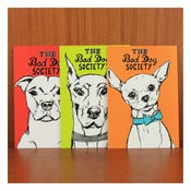 Image of BAD DOG SOCIETY POSTCARDS by Evie Kemp