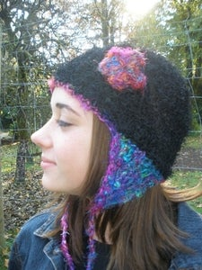 Image of Crochet This!  Sari Silk Beanie and Ear Flap Hat