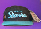 Image of *Sold Out* TISA San Jose Sharks Sports Specialties Script Snapback Hat