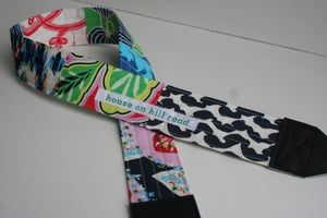 Image of patchwork camera strap :: colorway forty-two