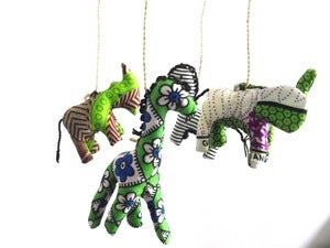 Image of African Animal hand made baby mobile