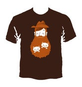 Image of Cat Beard T-Shirt - Dark Chocolate