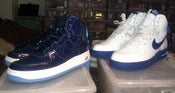 "Image of Nike Air Force 1 High Rasheed Wallace PE ""Blue Jays"" size 9"