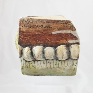 Image of Asia Mathis Ceramic Poetry Box Sculpture #2