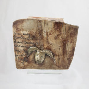 Image of Asia Mathis Ceramic Poetry Box Sculpture