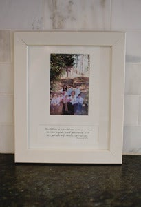 Image of Clean Cut White Wood Frame