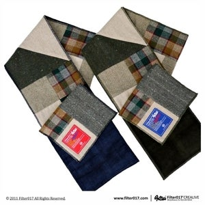 Image of Filter017 WOOLLENS PATCHWORK SCARF