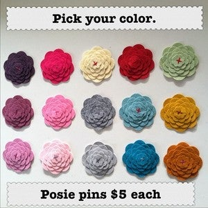 Image of Felt Scallop Posie Pin