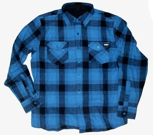Image of Autumn'atic woven flannel *blue
