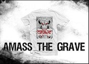 Image of AMASS THE GRAVE WHITE SHIRT WITH DESIGN