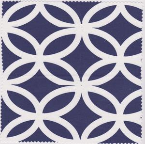 Image of Garden Stool white on blue