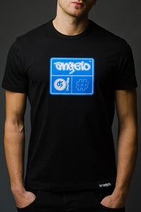 Image of DJ ANGELO HASH LOGO <br>Slim Fit T-shirt <br><i> by DJ Angelo</i>