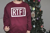 Image of RTF RECORDS CREW NECK MAROON