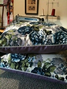 Image of Vintage style floral cushions - one pair