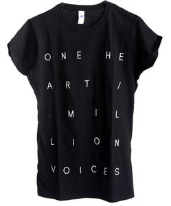 Image of One Heart / Million Voices Tee // Black