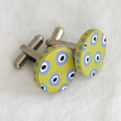 Image of citron cufflinks