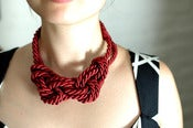 Image of Rope Necklace - Red Red Wine