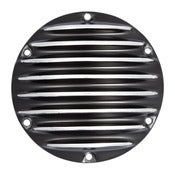 Image of Derby Cover Black-6 Hole-Sportster