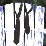 Image of boy ties - brown cross hatching