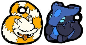 Image of Set of Monster Pulse Acrylic Charms