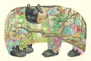 Image of Bear In the Forest - print