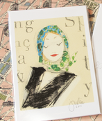 "Image of Mini Print: ""Cédille Fille II"""