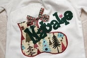 Image of Christmas Stocking Applique Shirt