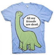 Image of NEW! All My Friends Are Dead Baby Blue Shirt