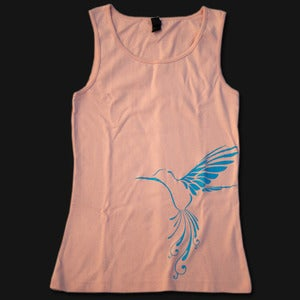 Image of Womens Bird Singlet - Apricot