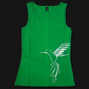 Image of Womens Bird Singlet - Green