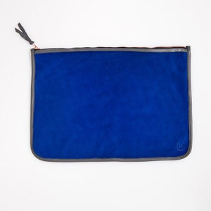 Image of LARGE CLUTCH - Cobalt & Grey