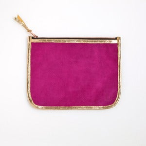 Image of AS SEEN in Martha Stewart Living!   NECESSAIRE - Fuchsia & Gold