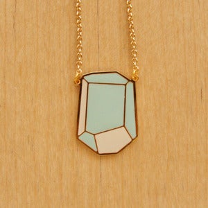 Image of Geometric Rock Necklaces