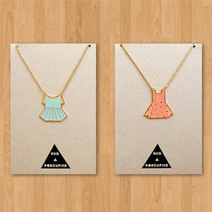 Image of Paper Dress Necklaces