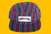 Image of Orchard 5 Panel Hat - Turquoise Aztec Text Logo