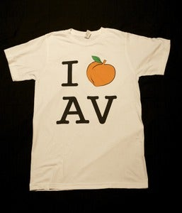 Image of I &quot;Peach&quot; A V in White